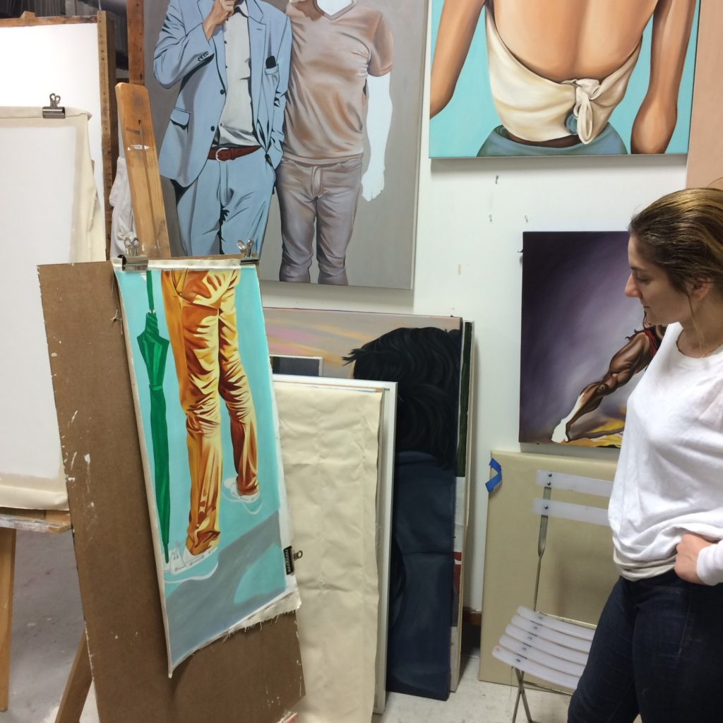 Artist Kathryn Mecca in her studio. Image courtesy of the artist.